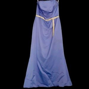 Alfredo Angelo Blue with yellow Accent Prom Dress